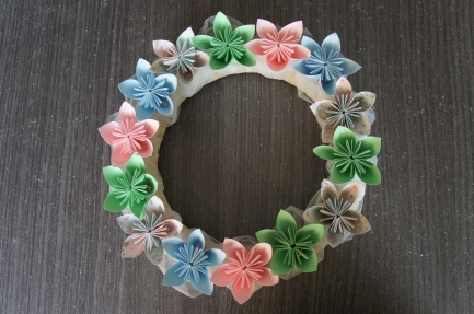 Couronne origami