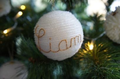 Boule en laine personnalisée