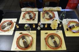 Table de Noël pastel