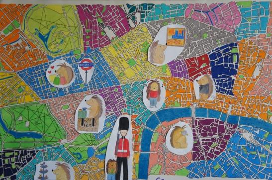 Plan de Londres coloré