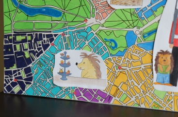 Plan de londres coloré