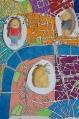 Détail plan de Londres coloré